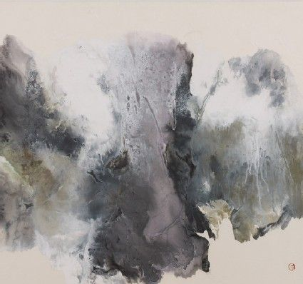 Black Green And Grey Abstract Landscape Yang Yanping