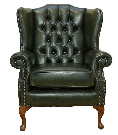 Marvelous Chesterfield Mallory Flat Wing Queen Anne High Back Wing Chair UK  Manufactured Antique, Traditional Sofas