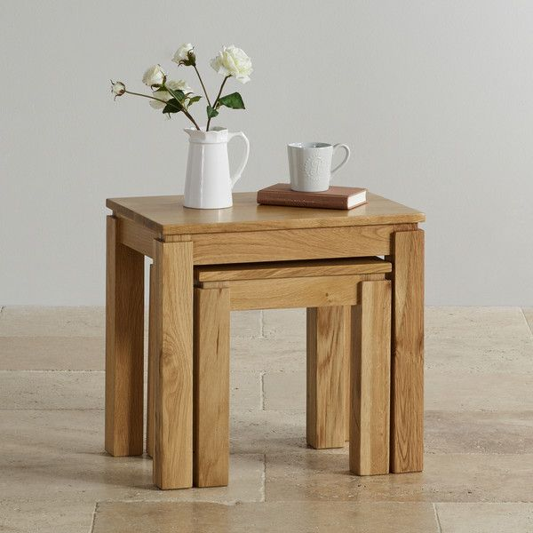 Natural Solid Oak Nest Of Tables Nest Of Tables Galway Range