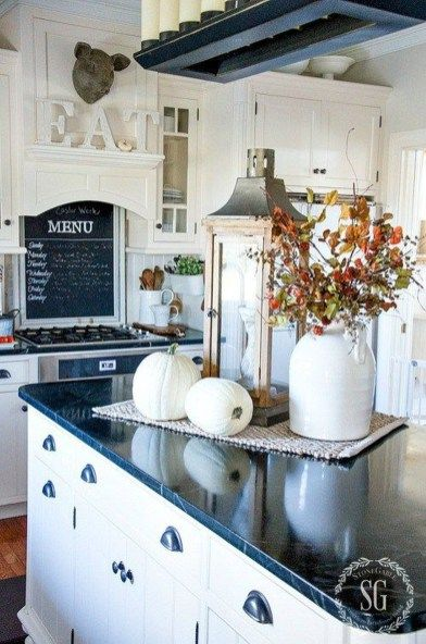 Adventures In Decorating Our Fall Kitchen: 40 Gorgeous Kitchen Island Decorating Ideas
