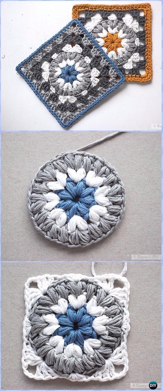 Crochet Triple Puff Granny Square Free Pattern - Crochet Granny ...