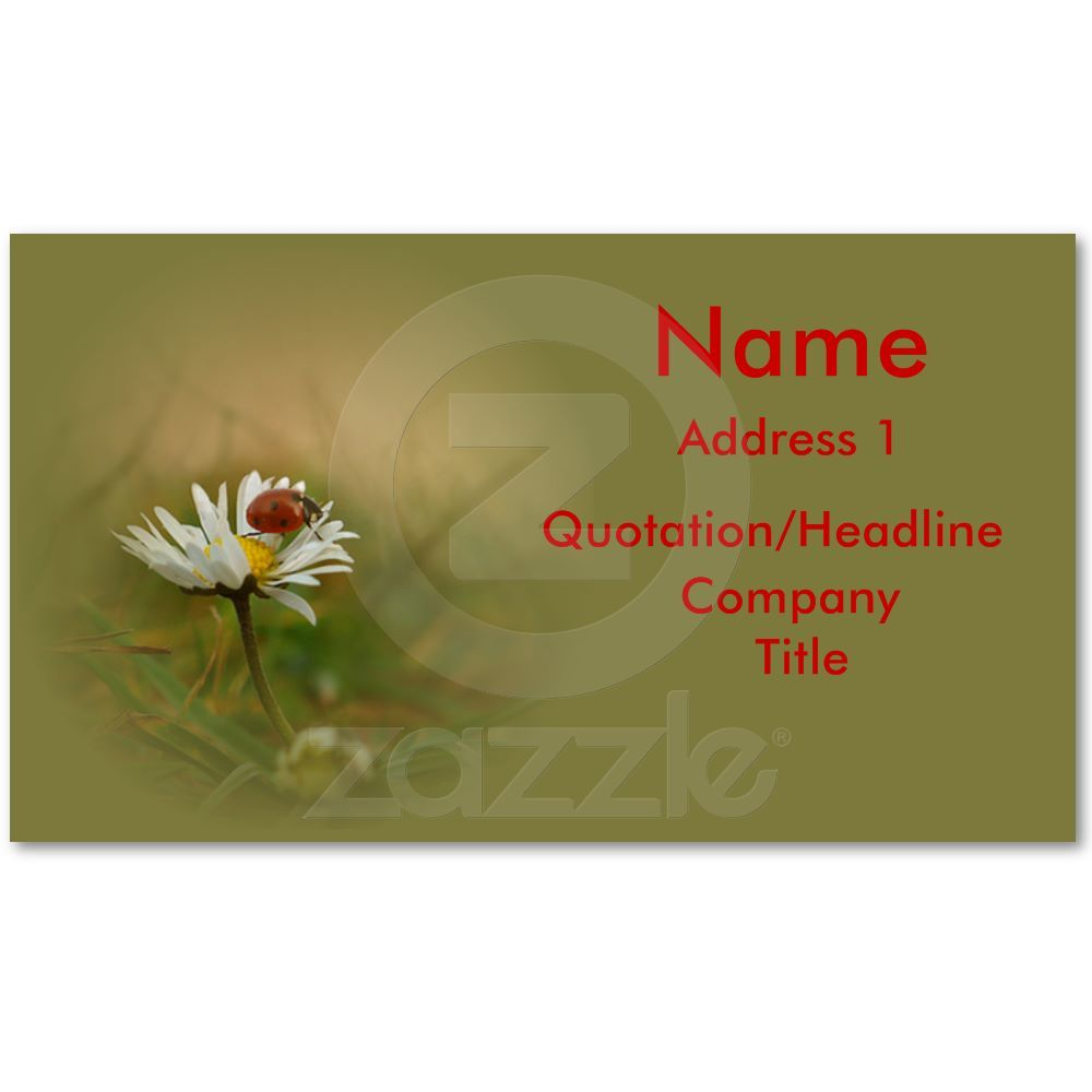 Little ladybug business card | Ladybird, Business cards and Business