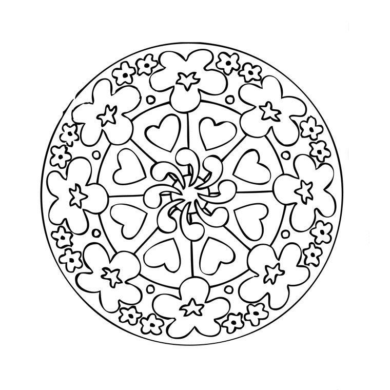 Favori Coloriage Mandala Coeur à colorier - Dessin à imprimer | Coeurs  GW79