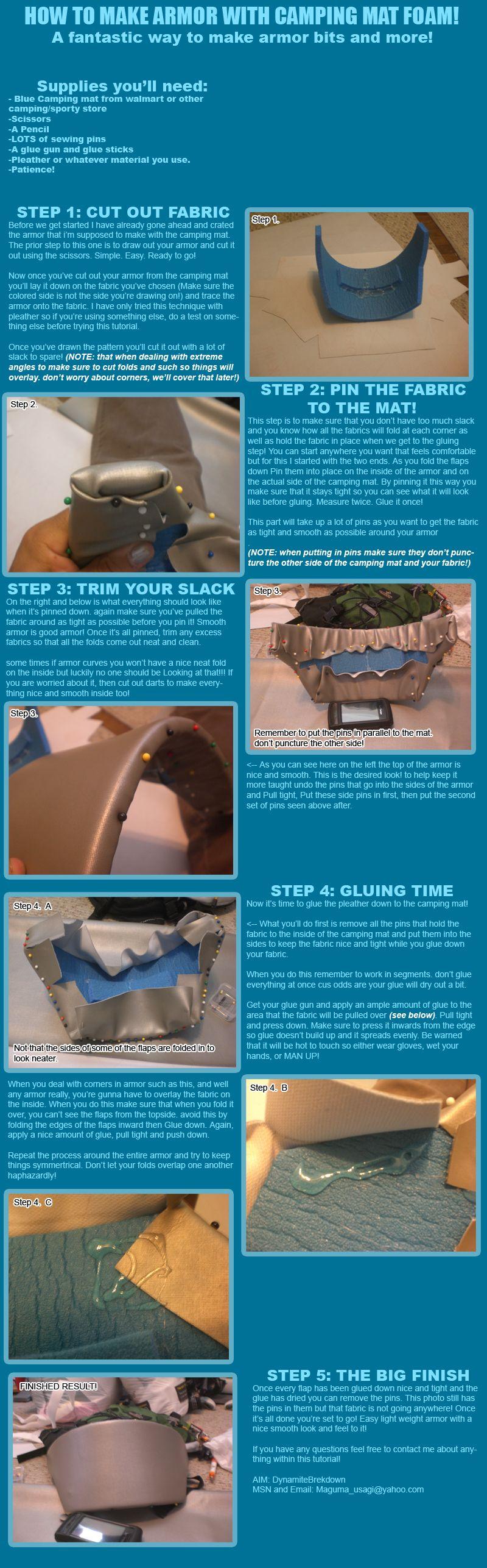 How to make armor by Maguma by DynamiteBreakdown deviantart