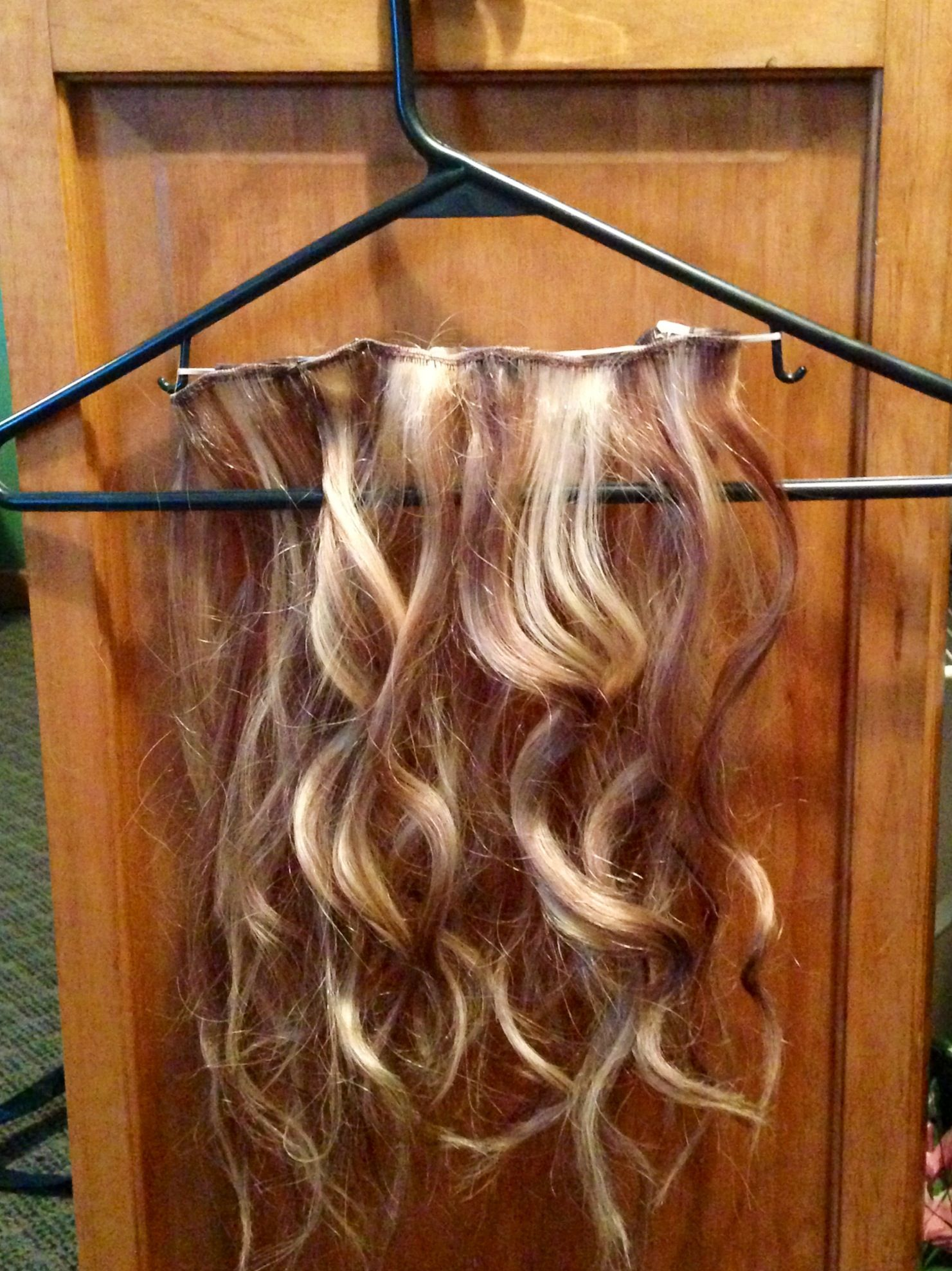 Diy Holder For Your Hair Extensions Clip Your Extensions On The The