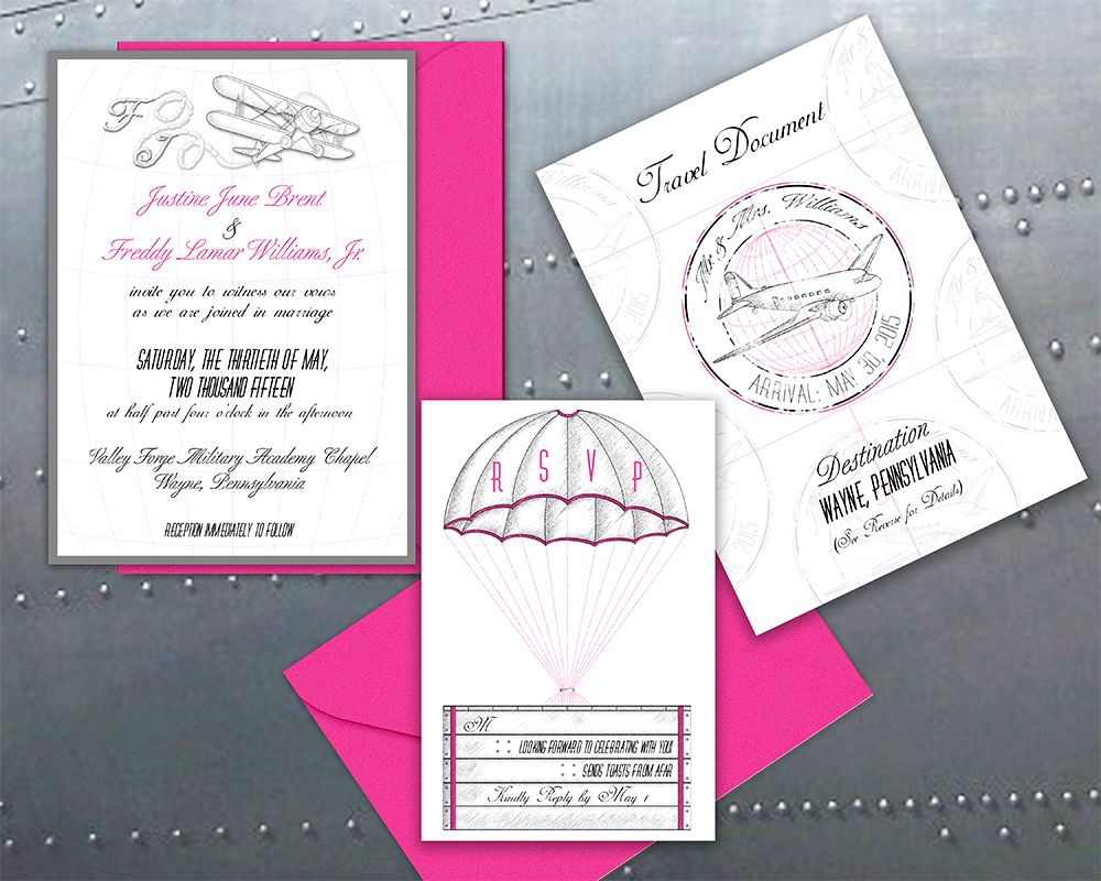 Printable Wedding Invitation-Vintage, Airplane, Flight, Elegant ...