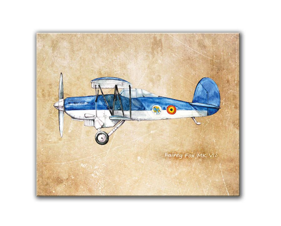 Airplane Blueprint Vintage Plane Blue Airplane Decor Aircraft Painting Boys Nursery Aviation Art Baby Boy Playroom Wall Art Playroom Wall Art Airplane Decor Boy Nursery