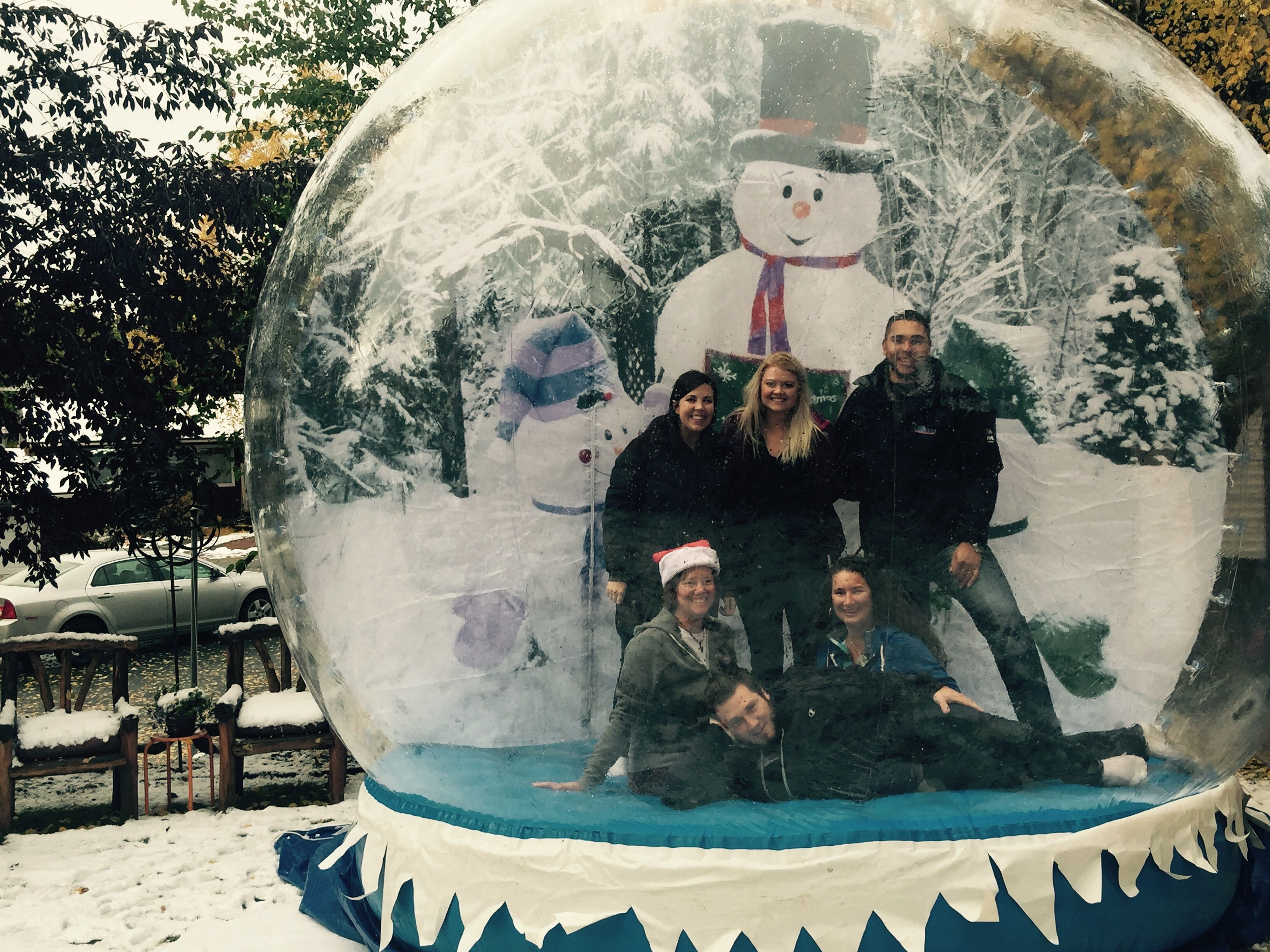 Our Life Size Snow Globe Available For Rent Christmas Float
