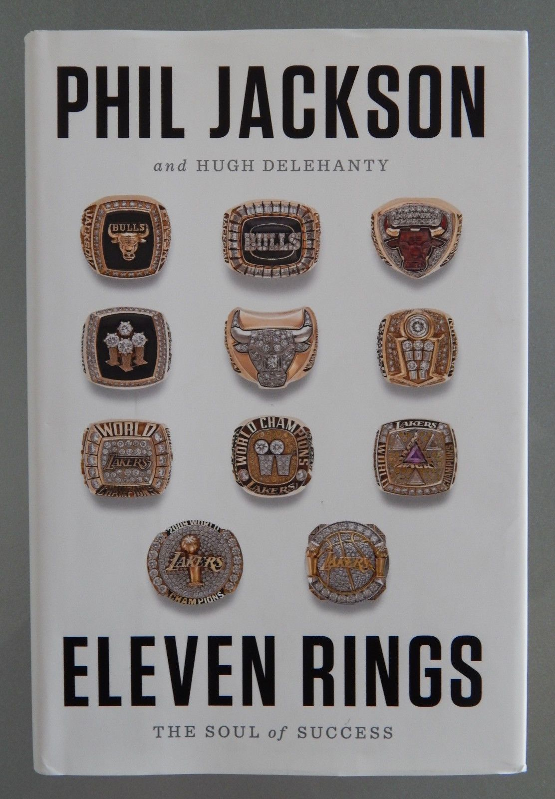 SIGNED AUTOGRAPHED PHIL JACKSON BOOK ELEVEN RINGS HC DJ NBA COACH BULLS  LAKERS