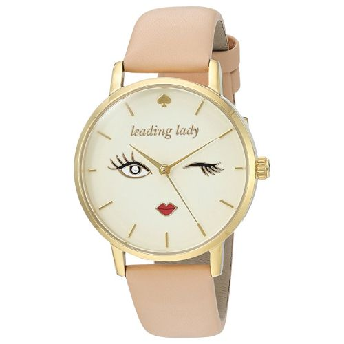 OMG I Love This Kate Spade Metro Watch It Is So Cute With The Long Lashes Red Lips And Wink Expression Birthday Gift Ideas For Teen Girls Age 13 To 18
