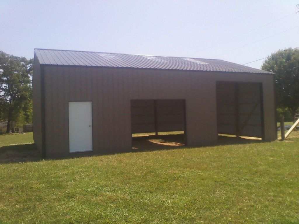 30x40x12 pole barn garage national for Pole barn workshop
