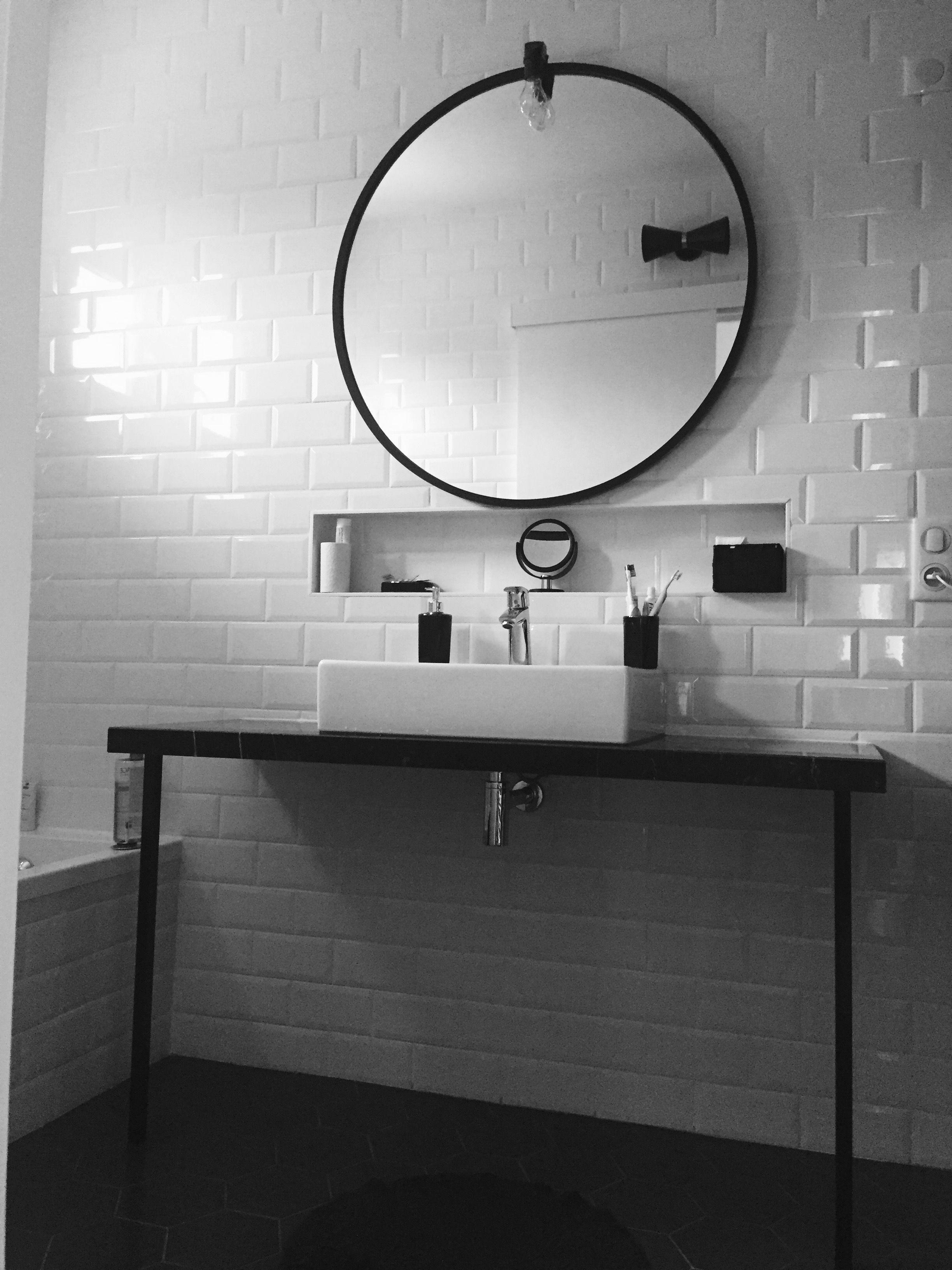 Miroir Sympa Salle De Bain ~ salle de bain vintage plan vasque marbre miroir umbra grand format