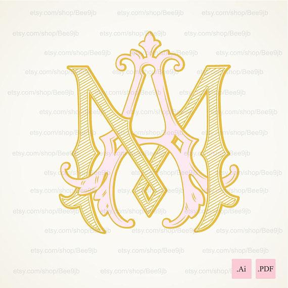 Wedding Logo Maam Vintage Monogram Wedding Clip Art Etsy Wedding Logo Monogram Wedding Logos Vintage Monogram