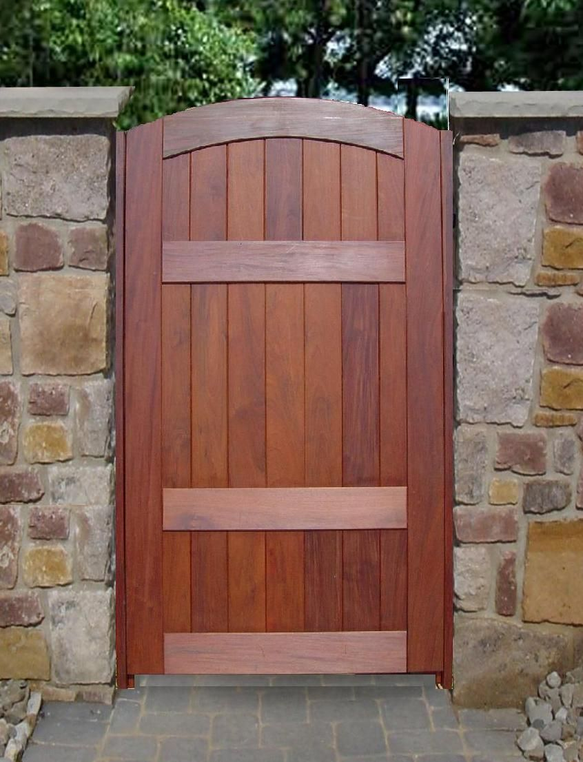Modern horizontal style entry gate ipe-love. | Love & Los Altos ...