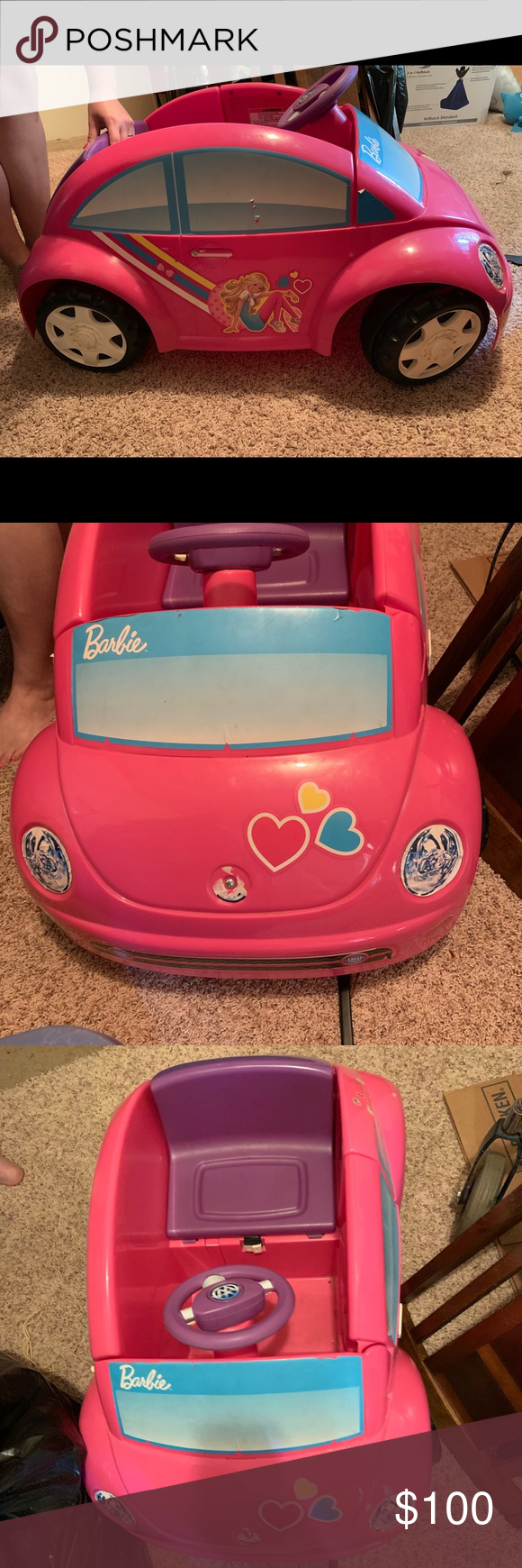 Barbie car It's like new... my lil niece don't ride it... and asking 100 or best offer Other #barbiecars Barbie car It's like new... my lil niece don't ride it... and asking 100 or best offer Other #barbiecars