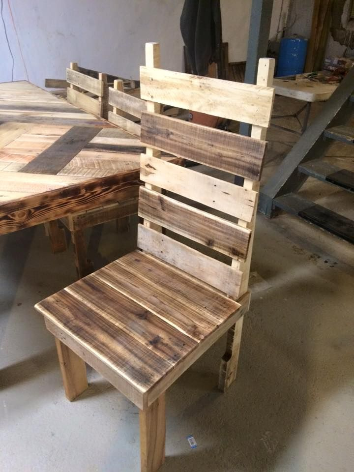 pallet-made-dining-table-and-chairs.jpg (720×960) | Pallets ...