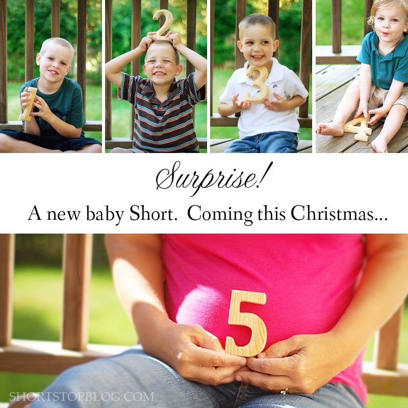 4th child announcement Pregnancy announcement Baby photos – Cute Ways to Announce a Baby