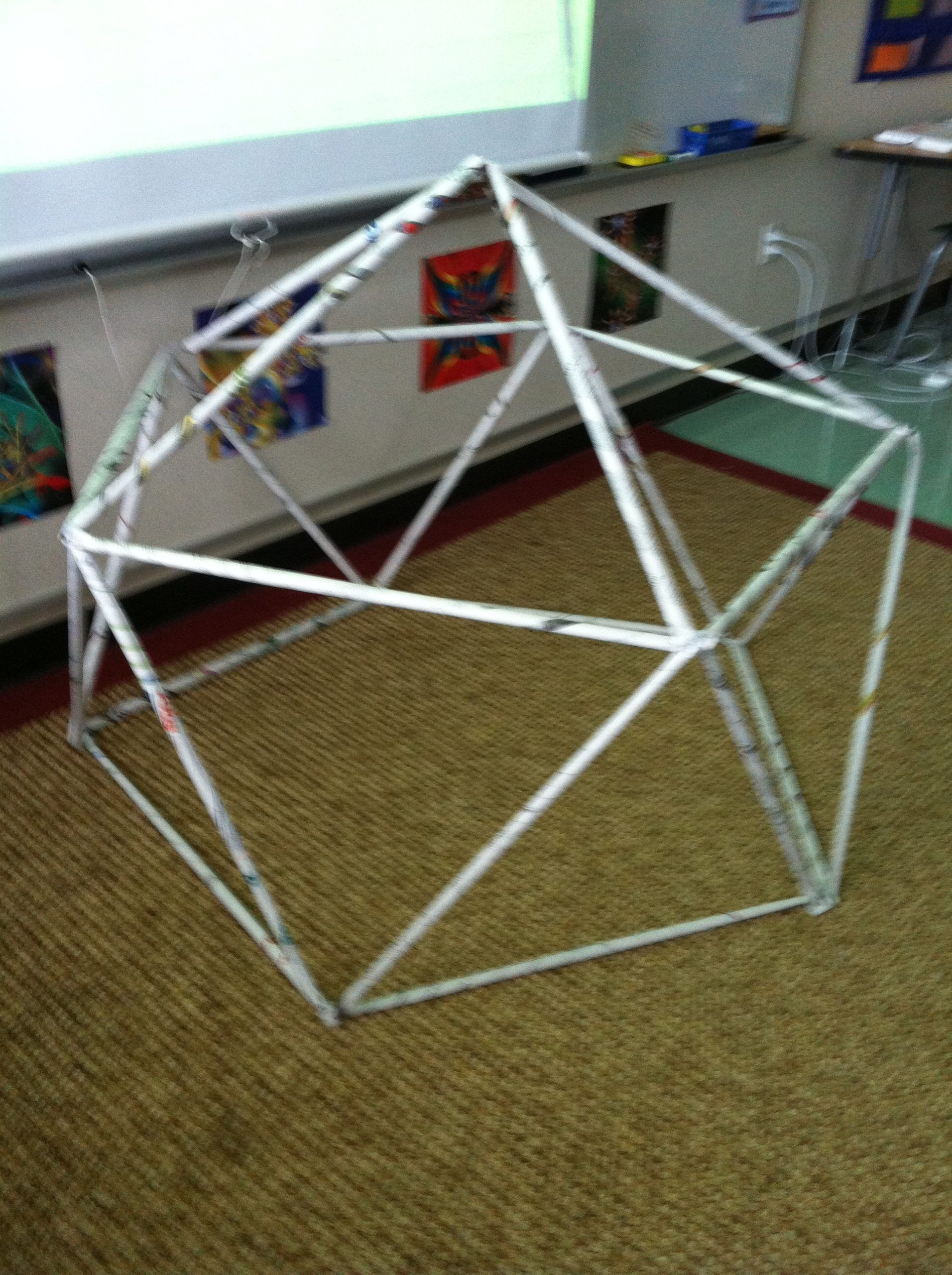 Kids Building Big A Geodesic Dome In Less Than An Hour