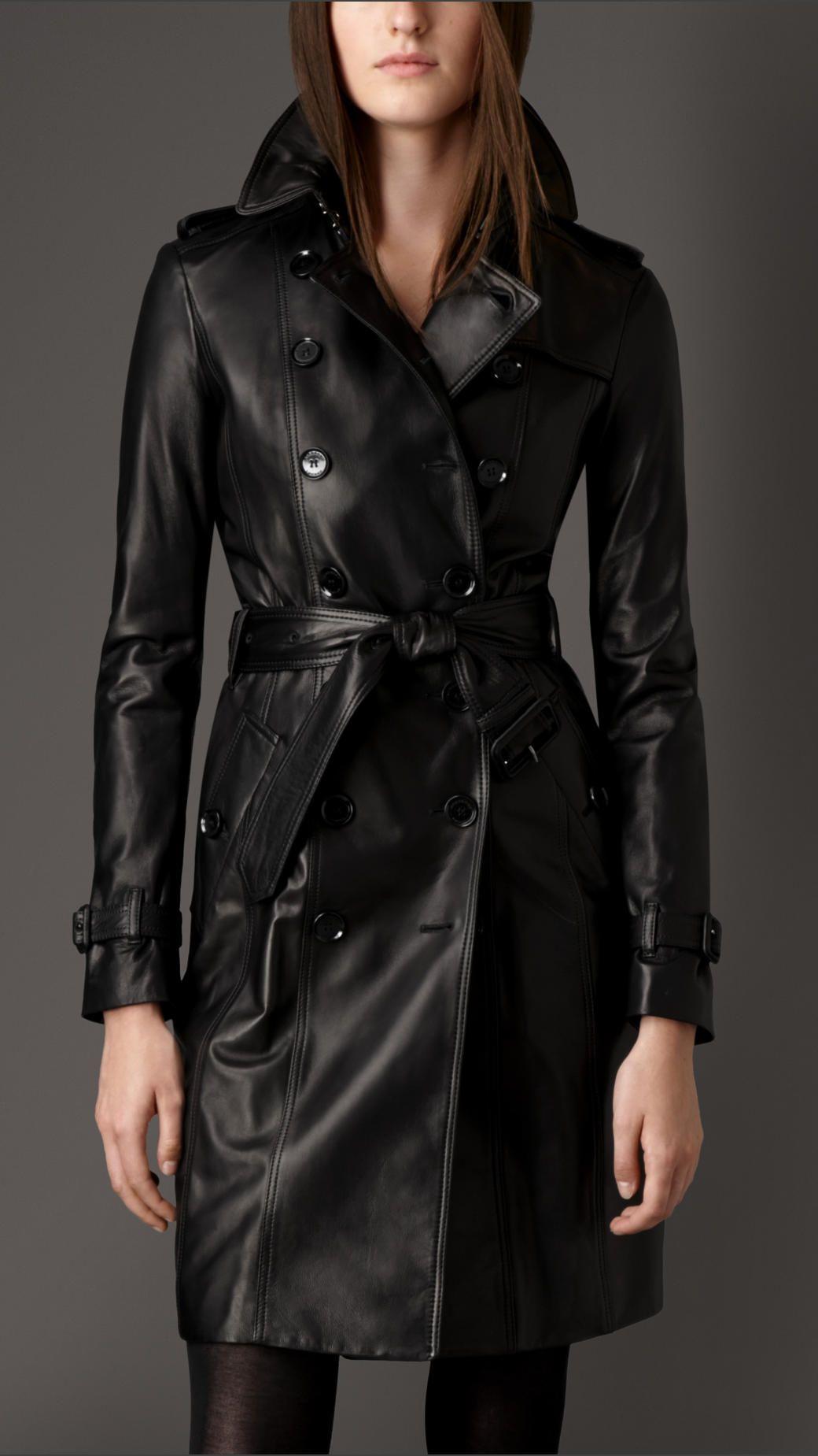 ed19ab3b7 Trench-coat en cuir d'agneau | Burberry | belle femme désirable ...