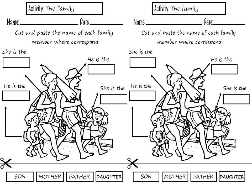 Atividades Sobre O Tema Familia Em Ingles Pesquisa Google Com