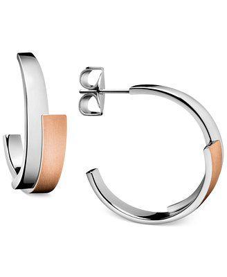 4742579ab Calvin Klein Intense Two-Tone C Hoop Earrings | Jewelry | Jewelry ...