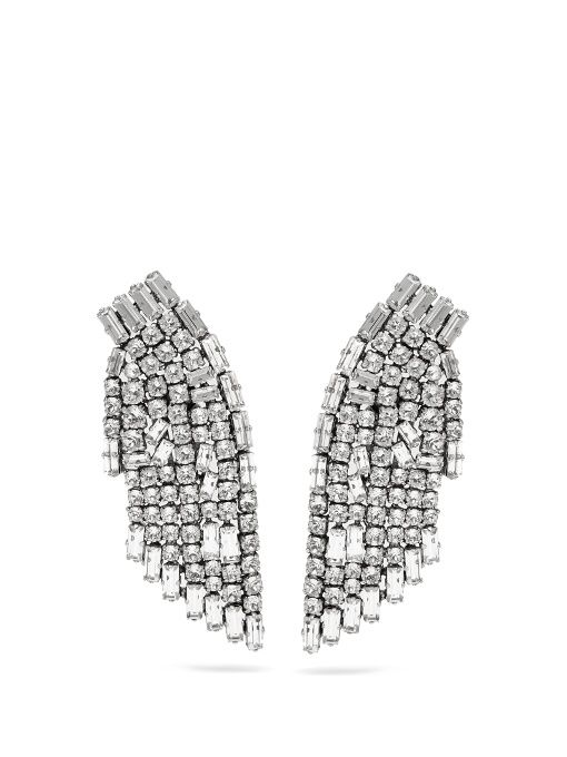 Saint Laurent Cocktail Clip Earrings in Metallics bVzJtIJmjU