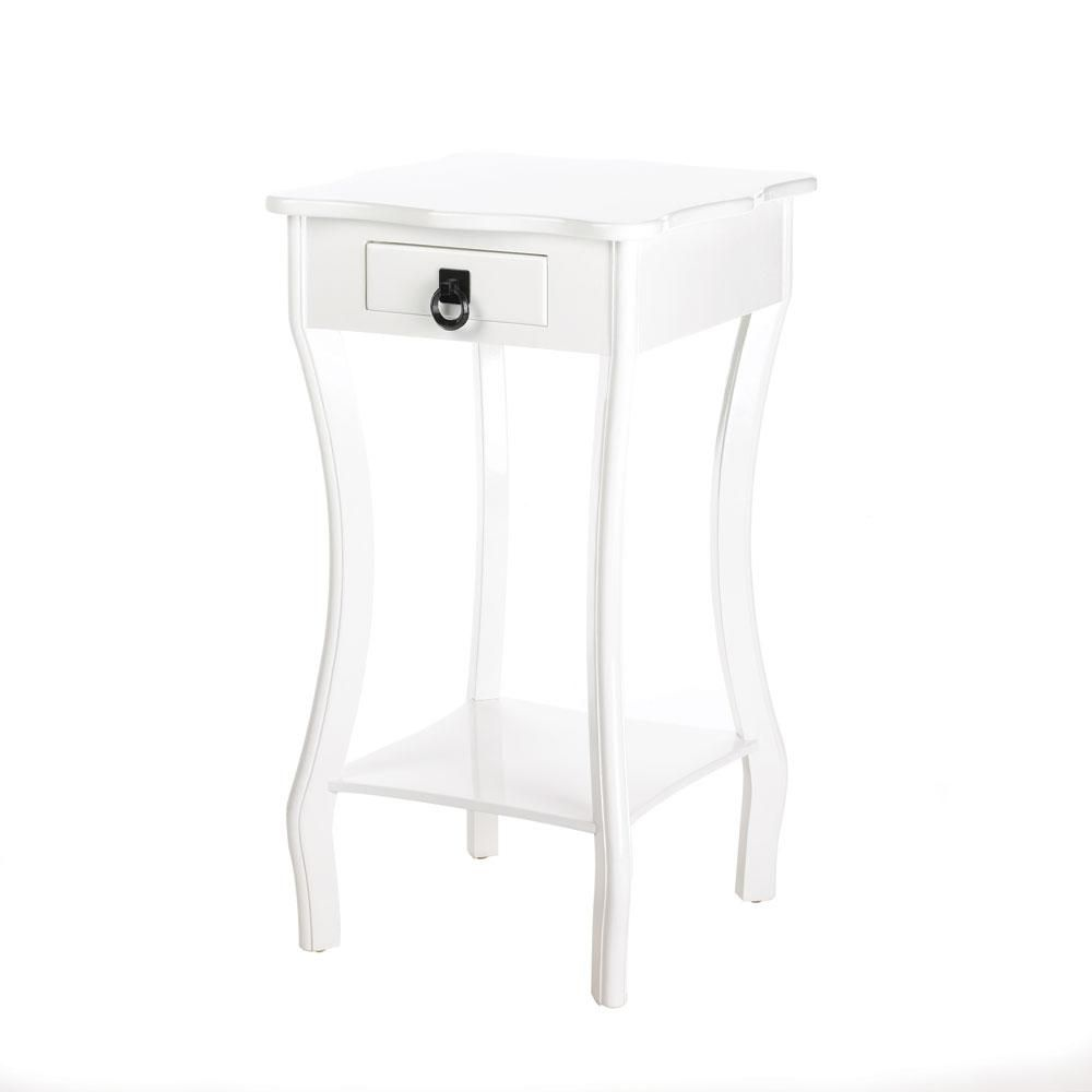 - Curvy White Accent Table White Accent Table, White Side Tables