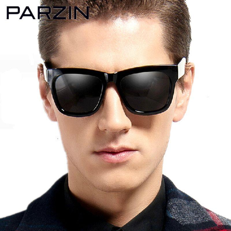 Parzin Polarized Sunglasses Vintage Fashion Unisex  Sun Glasses  Shades  Oculos De Sol Masculino With Case Black 9265