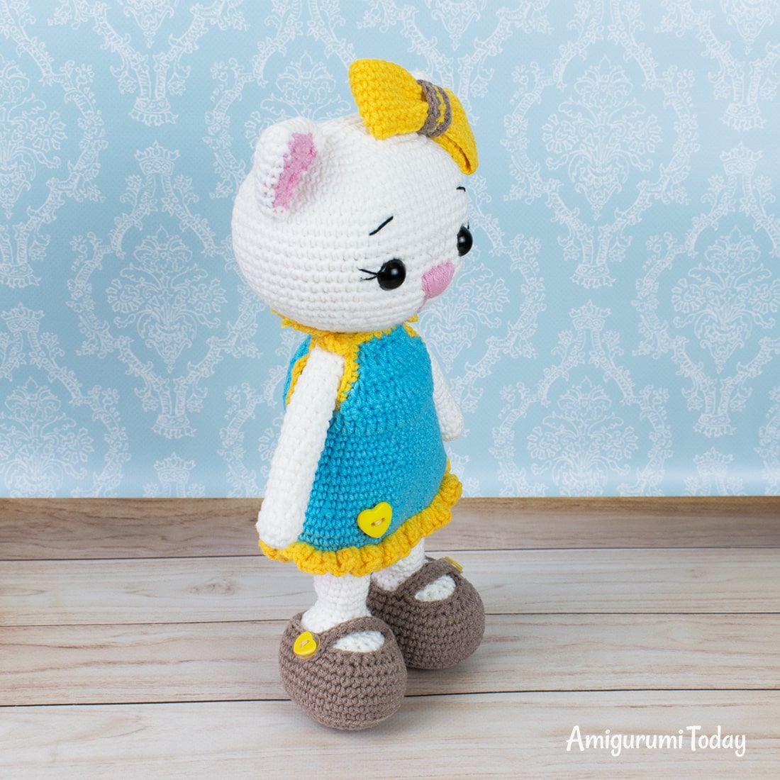 Cat Doll In Sundress Crochet Pattern Cat Doll Crochet Angel