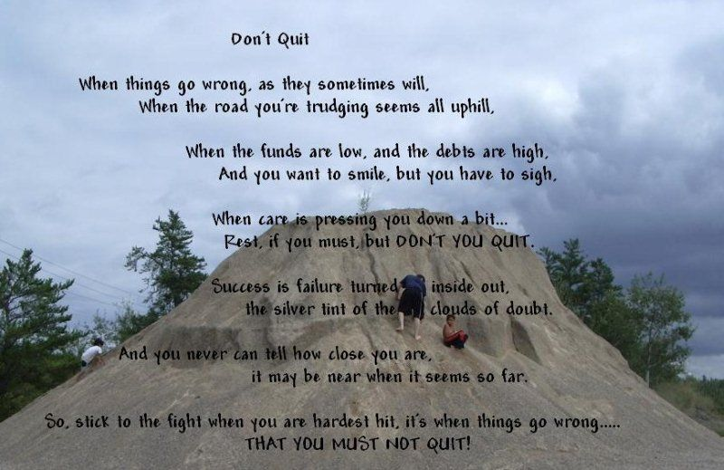 Inspirational Poems | Don't Quit! - inspirational poem ...