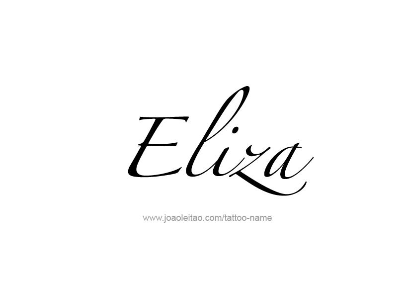 Картинка с надписью элиза, января