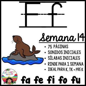 Letra F Silabas Fa Fe Fi Fo Fu Spanish Resources Words