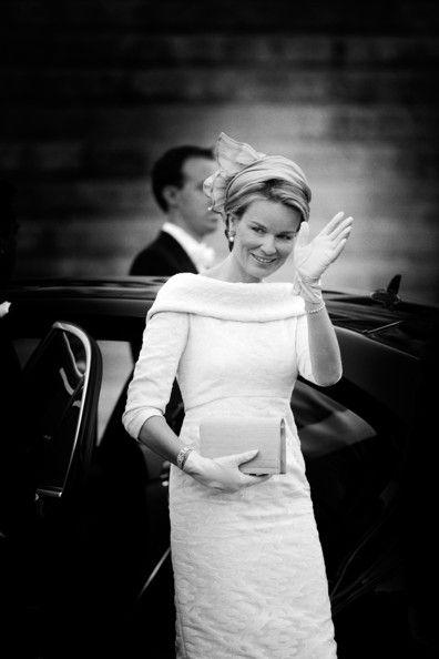An alternative view on Princess Mathilde of Belgium ahead of the abdication of King Albert II of Belgium & inauguration of King Philippe on 21 July 2013 in Brussels, Belgium.