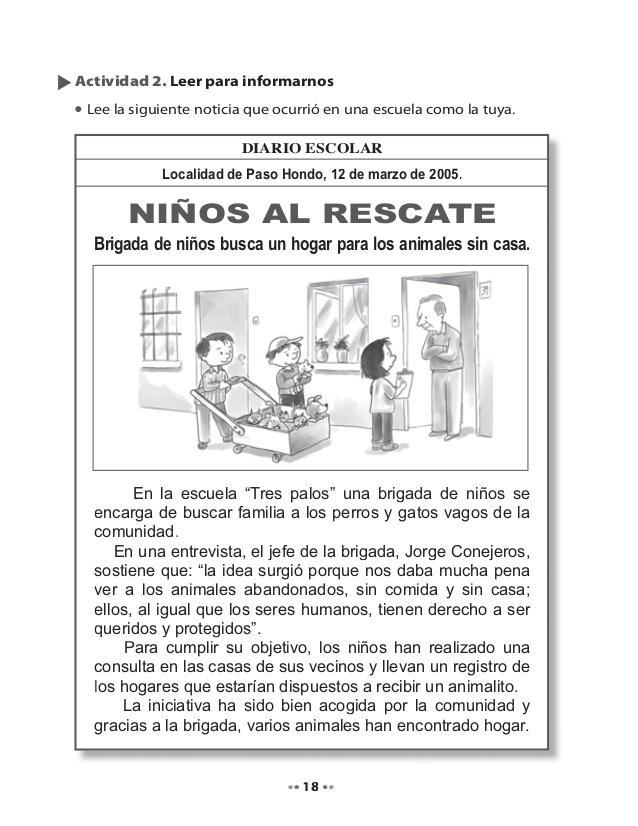 Ejemplo De Una Noticia Para Niños De Primaria Compartir Ejemplos Practicas Del Lenguaje Noticias De Periodicos Portadores De Texto