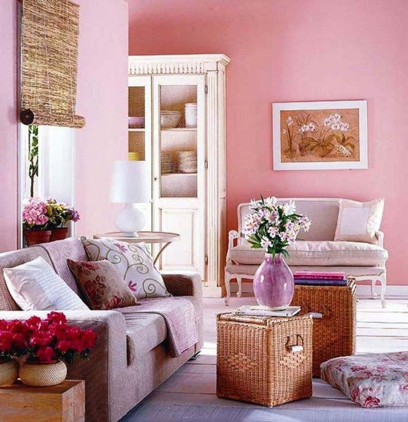 Pink Living Room Design Ideas Contemporary Pink Summers Paint Colors For Pink Living Room Pink Living Room Interior Decorating Living Room Romantic Living Room #pink #and #yellow #living #room