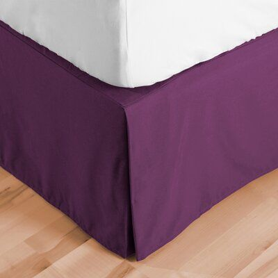 Photo of Red Barrel Studio Abe Microfiber 15″ Bed Skirt Size: Twin XL, Colour: Plum