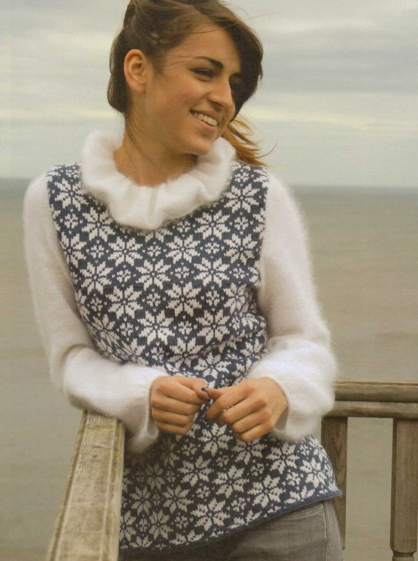Rowan knitting patterns, Stranded Knits by Ann Kingstone, Snowstar - do without fluff!!