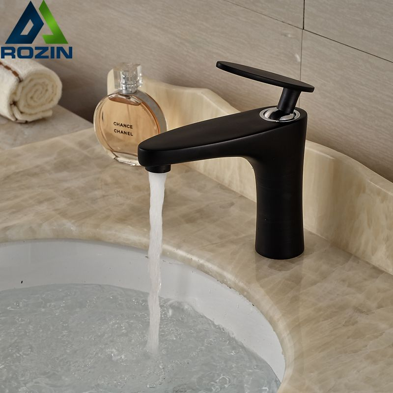 Unique Design Black Bathroom Vanity Sink Mixer Faucet Single Handle ...