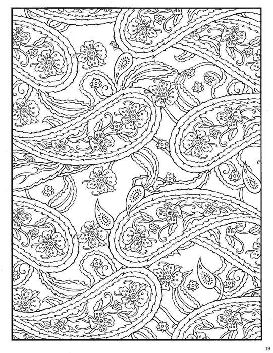 explore paisley coloring pages paisley design and more - Paisley Designs Coloring Book