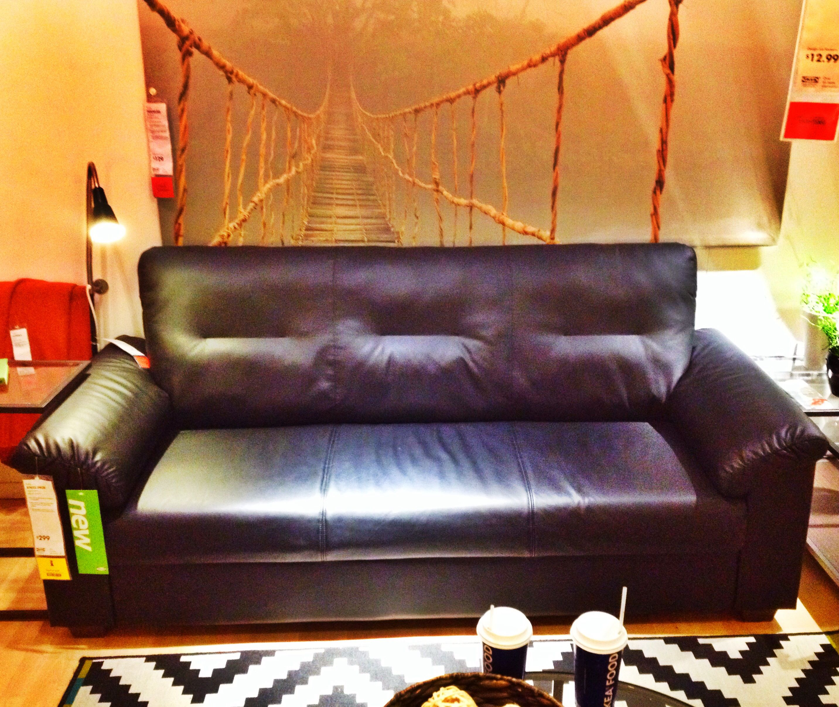 "Ikea Knislinge ""leather"" couch $299 00"