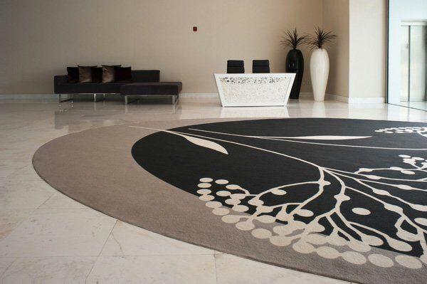 Großer Runder Teppich