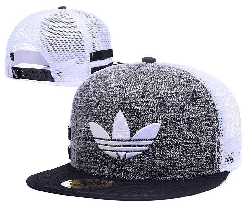 d6307e84132 Mens Adidas Originals Clover 3D Embroidery Logo Customized Pattern Mesh  Back Trucker Snapback Hat - Grey   Black   White