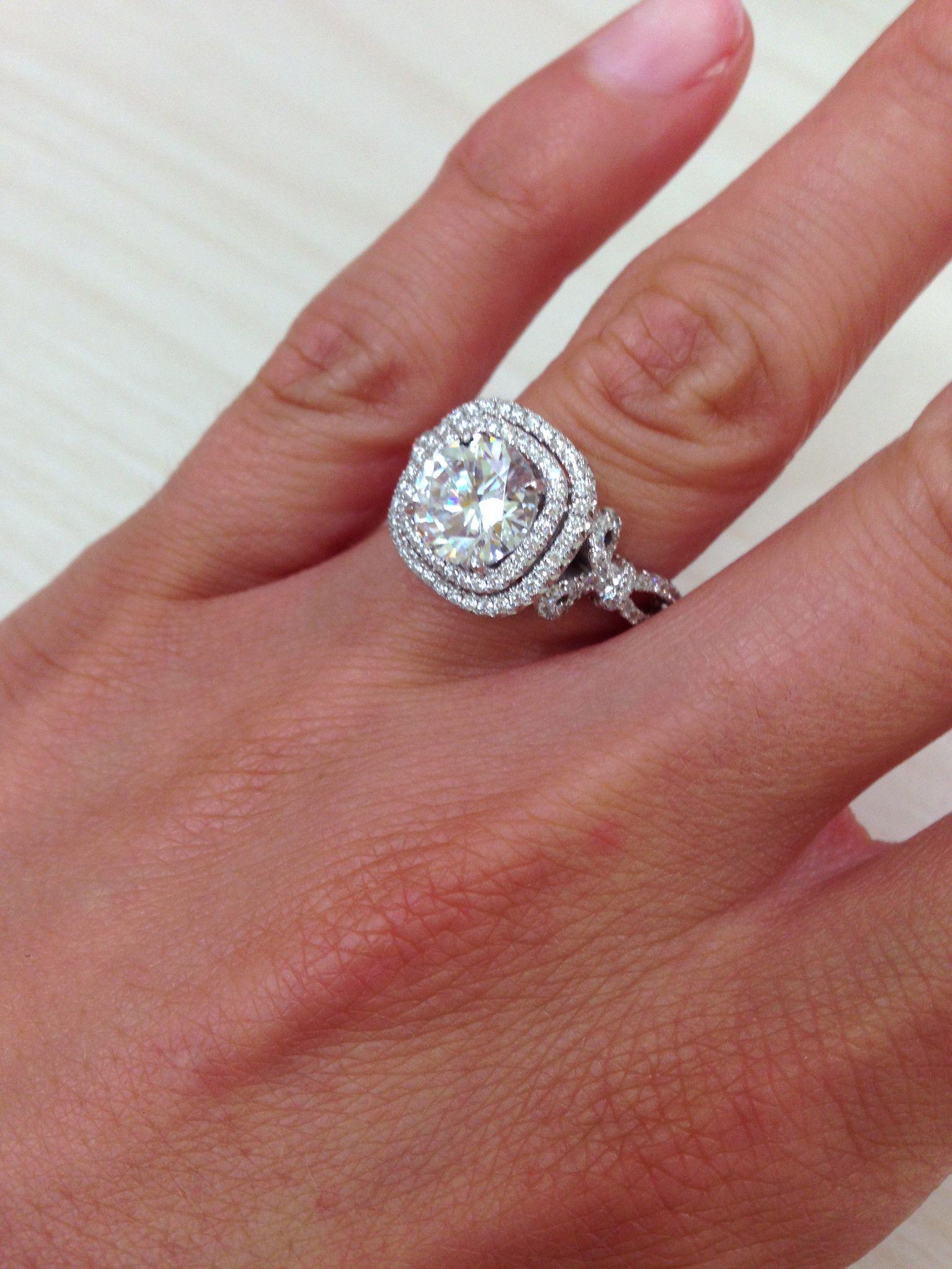"Kirk Kara ""Pirouetta"" Double Halo Diamond Engagement Ring"