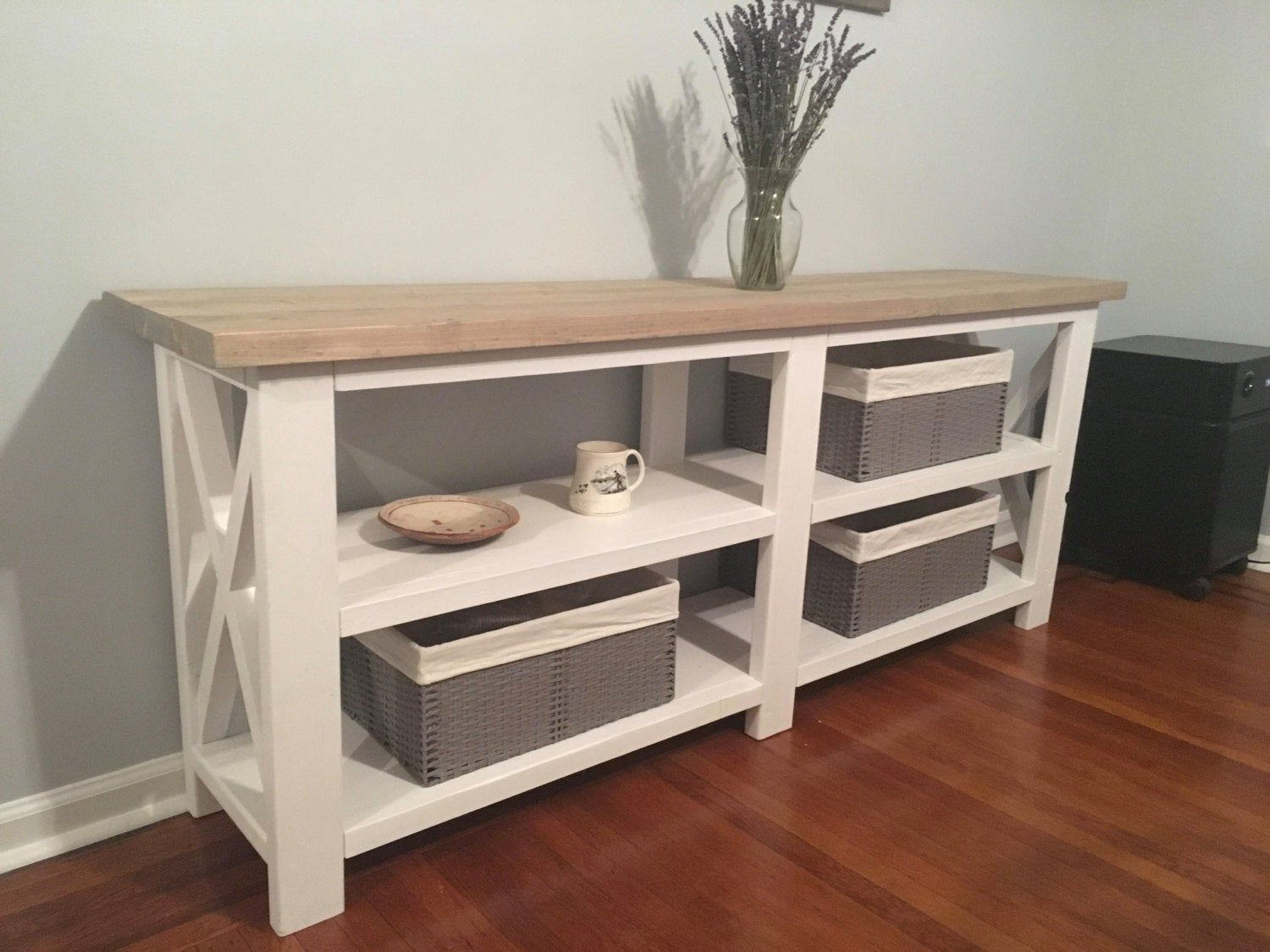Rustic X Console Table / farmhouse X table / Entryway