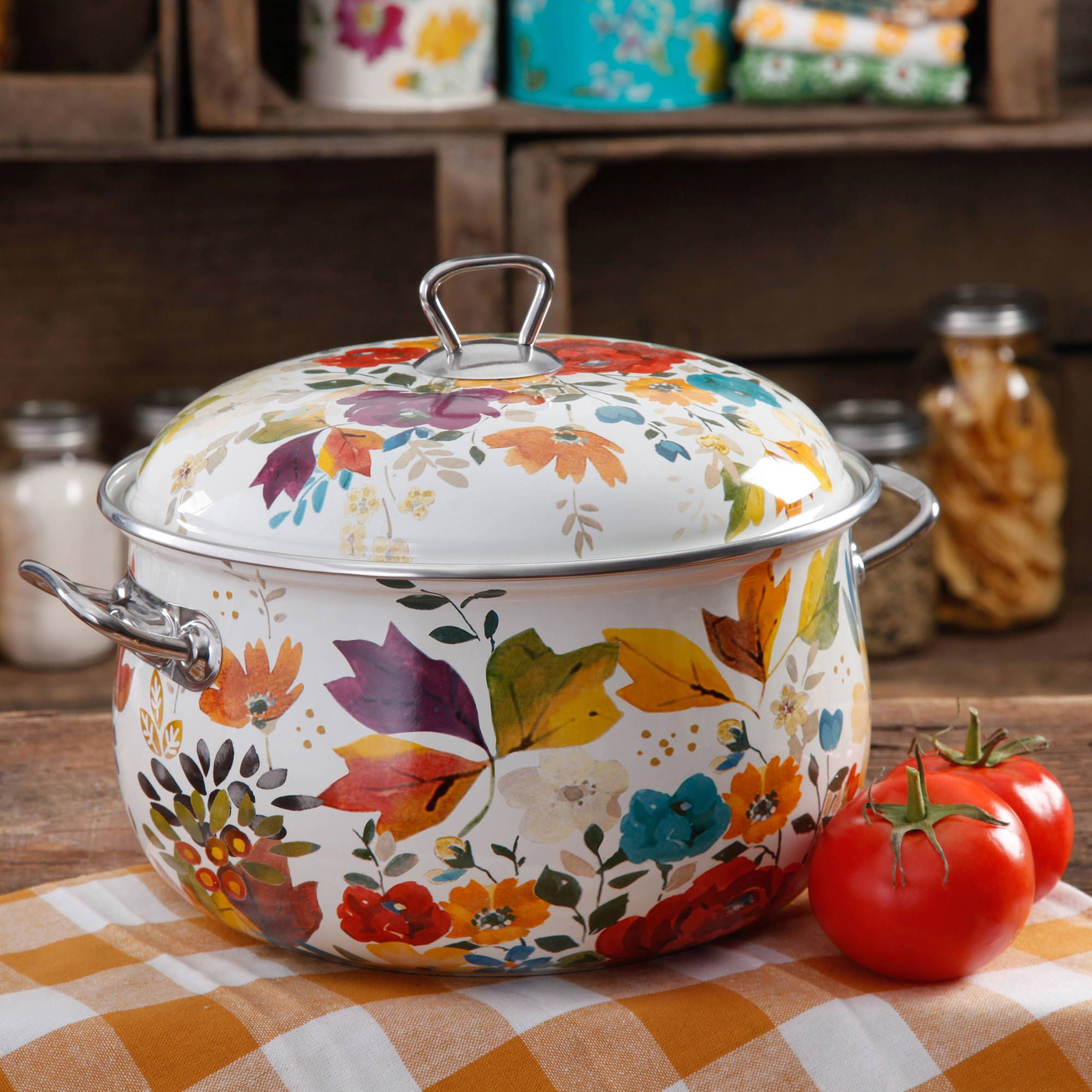 The Pioneer Woman 4-Quart Timeless Floral Casserole With