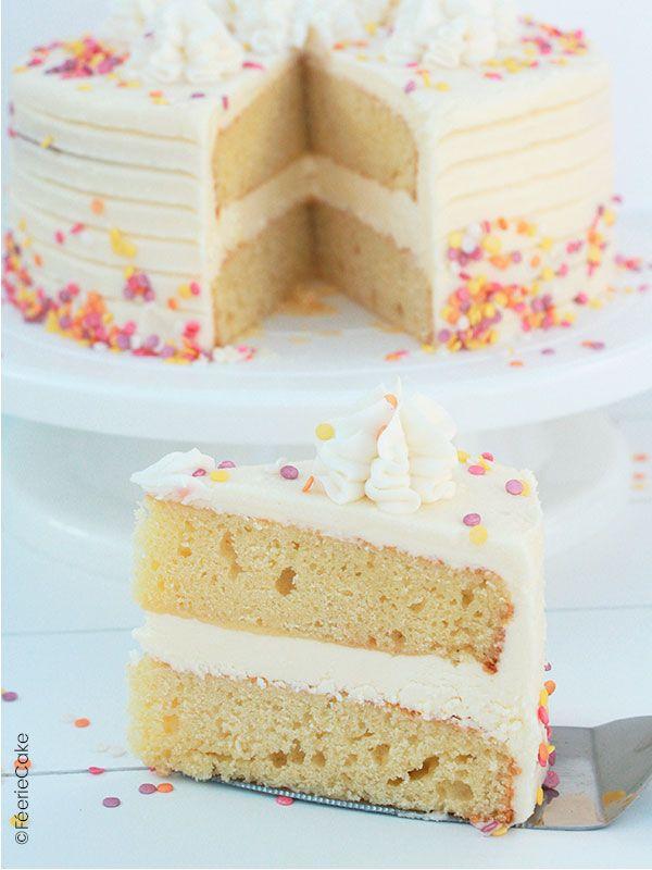 Recette du Layer Cake printanier à la vanille - Féerie Cake