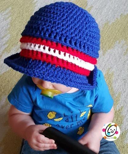 Jake\'s patriotic sunhat