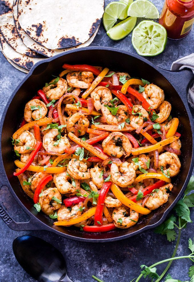 Skillet Shrimp Fajitas - Recipe Runner
