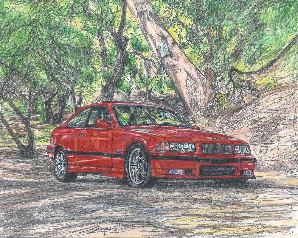 204 1995 Bmw M3 E36 Limited Edition Run Of 50 8x10 Framed 16x20