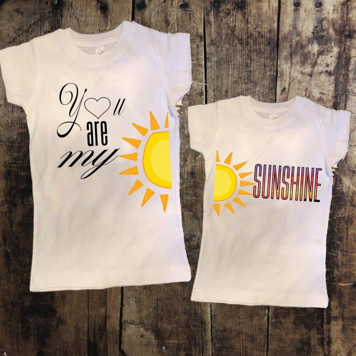 e034ca3c65ca You are my Sunshine Mommy + Me Tshirt Set | Mommy and me | Baby, New ...